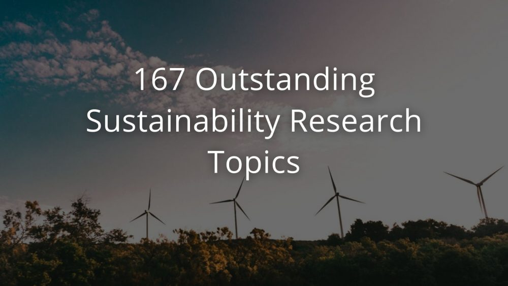 Sustainability Research Topics
